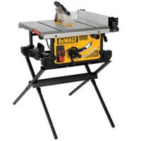 Table Saw With Scissor Stand, 15-Amp, 10-In.