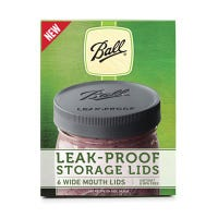 Storage Lids, Leak-Proof, Wide-Mouth, 6-Pk.