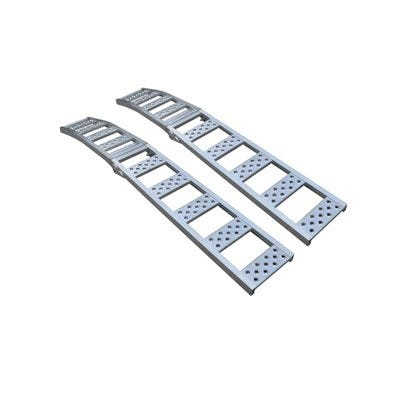 Metal Arched Ramp, Aluminum, 1500-Lb. Capacity, 12 x 90-In., Pr.