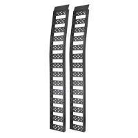 Aluminum Arched Ramp, Black, 1500-Lb. Capacity, 12 x 94-In., Pr.