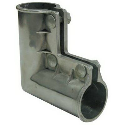 Image of Aluminum Gate Ell with Nuts & Bolts, 1-3/8 x1-3/8-In.