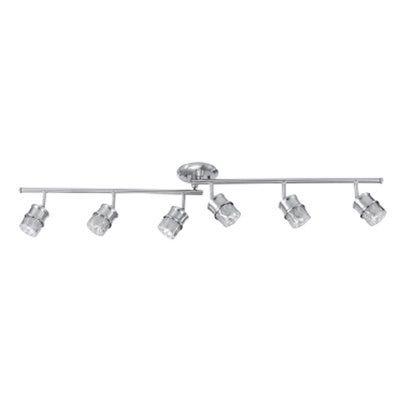 Foldable Track Lighting Bar, Brushed Nickel, 6 Lights