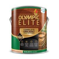 Elite Advanced Woodland Oil Stain & Sealant, Exterior, Kona Brown, 1-Gallon