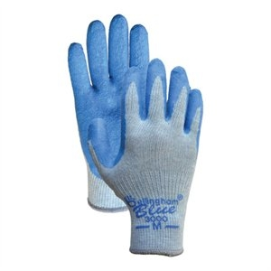 Image of Work Gloves, Rubber Palm/Knit Liner, XL