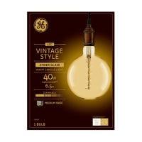 LED Vintage Light Bulb, G63, Warm White, Amber Bulb, 350 Lumens, 6.5-Watt