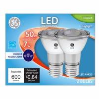 LED Directional Light Bulb, R20, Daylight, Clear Bulb, 500 Lumens, 7-Watt, 2-Pk.