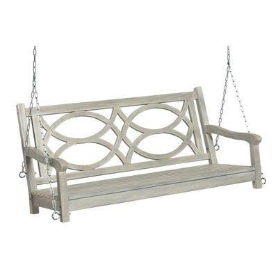 Swing Seat, Gray Hardwood, 4-Ft.
