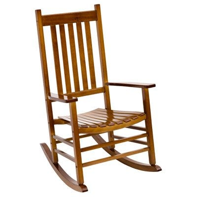 Porch Rocking Chair, Mission-Style Wood, Natural