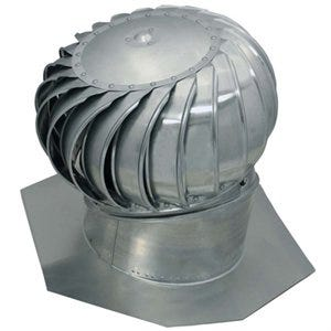 Ventilation Turbine, Internal Brace, Aluminum, Mill Finish, 12-In.
