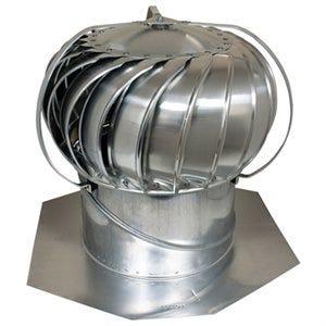 Ventilation Turbine, External Brace, Aluminum, Mill Finish, 12-In.