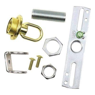 Light Fixture Screw Collar Loop Kit, Brass Finish, 1/4 IP