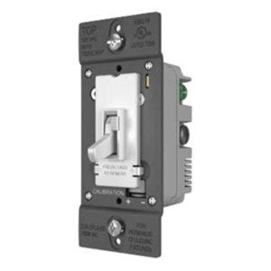 Toggle Slide Dimmer Switch, 3-Pole, White