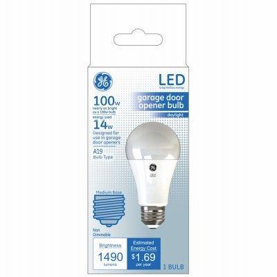 LED Light Bulb, A19, Garage, Frosted Daylight, 1600 Lumens, 14-Watts