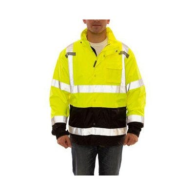 High-Visibility Jacket, ANSI Compliant, Waterproof, Large