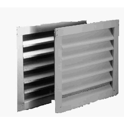 Image of Aluminum Wall Louver Vent, White, 18 x 24-In.