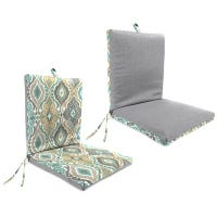 Universal Chair Cushion, Reversible Pattern, 44 x 21 x 4-In.