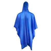 Blue Poncho, PVC, 50-In. x 80-In.
