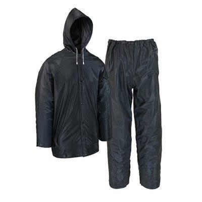 2-Pc. Rain Suit, Black PVC, XXL
