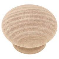 1.5-In. Round Wood Cabinet Knob