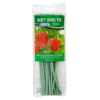 Plant Wire Ties, Soft Rubber-Coated, 8-In., 20-Pk.