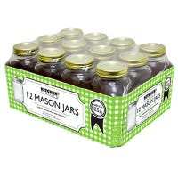 Smooth Canning Jars, Quart, 12-Pk.