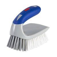 2-in-1 Iron Scrub Brush With Detail Tool