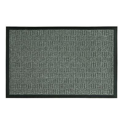 Floor Mat, Rubber Back, Parquet Gray, 24 x 36-In.