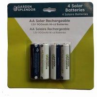Solar Rechargeable Batteries, AA, 4-Pk.