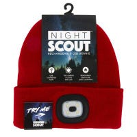 LED Lighted Beanie Hat, Rechargeable, Assorted Colors