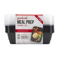 Meal Prep Containers, Breakfast, Black, 10-Pk.