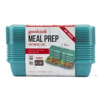 Meal Prep Containers, Lunch, Blue, 10-Pk.