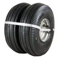 Utility  Tire + Wheel Assembly, Pneumatic, 4.10/3.50-4, 2-Pk.