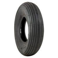 Wheelbarrow Tire, Ribbed Tread, Pneumatic, 4.00-6