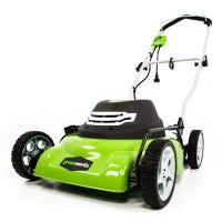 Electric Lawn Mower, Corded, 2-N-1, 18-In.