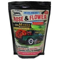 Rose & Flower Organic Fertilizer, Mykos Mycorrhizae Plus Kelp & Humic Acid, 4-2-2 Formula, 2.2-Lbs.