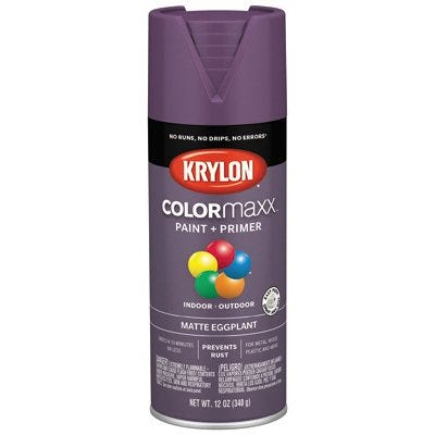 COLORmaxx Spray Paint, Eggplant, Matte, 12-oz.