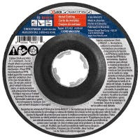 Abrasive Wheel, Metal Cutting and Grinding, X-Lock Arbor, Type 27A, 30 Grit, 4.5-In.