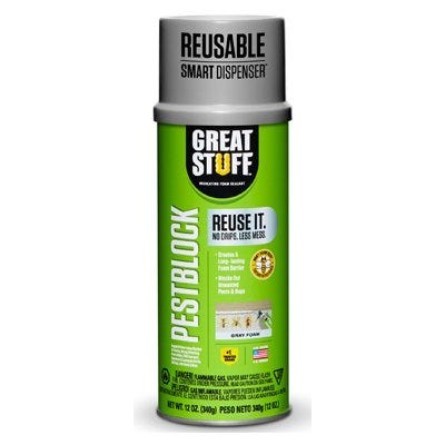 PestBlock Smart Foam, Seals Gaps & Cracks, 12-oz.