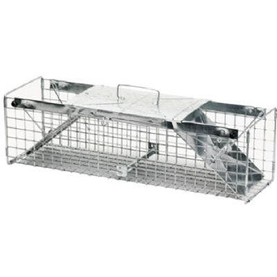 Live Animal Cage Trap, 24 x 7 x 7-In.