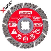 Diablo X-Lock Masonry Cut Off Disc, Segmented, 4.5-In.
