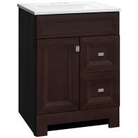 Sagebrook Bathroom Vanity Combo, Café Finish, Arctic White Top, 24-In. W