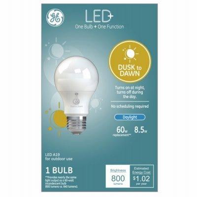 LED+ Light Bulb, Daylight, Dusk-Dawn, 800 Lumens, 9-Watts