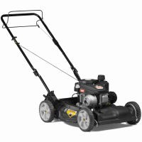 Self-Propelled Gas Lawn Mower, 140cc Engine, 2-N-1, Front Wheel Drive, 21-In.