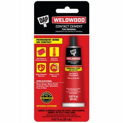 Weldwood Contact Cement, Squeeze Tube, 20-ml.