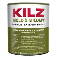 Mold & Mildew Primer Sealer & Stain Blocker, Interior & Exterior, 1-Qt.