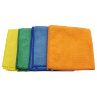 Cleaning Cloths, Mircofiber, 12 x 12-In., 4-Pk.