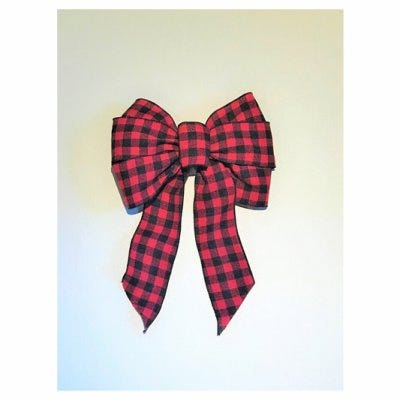 Deluxe Bow, Buffalo Plaid, 8-1/5-In. x 14-In.