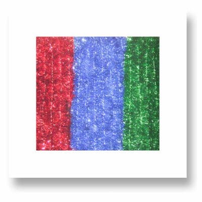 Soft & Silky Garland, Red, Green & Blue, 2-In. x 15-Ft.