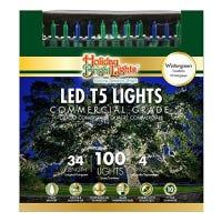 Christmas LED Light Set, T5, Commercial Grade, Wintergreen, Blue & Green, 100-Ct., 34-Ft.