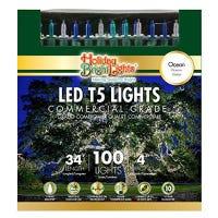 Christmas LED Light Set, T5, Commercial Grade, Ocean Blue & Teal, 100-Ct., 34-Ft.